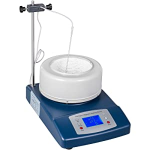 VEVOR Magnetic Heating Mantle 2L,Heated Magnetic Stirrer 0-380℃/716℉,Digital Heating Mantle Magnetic,Lab Stirrer Distillation Heating Mantle Magnetic Stirrer Mixer,for Liquid Heating and Stirring(2L)