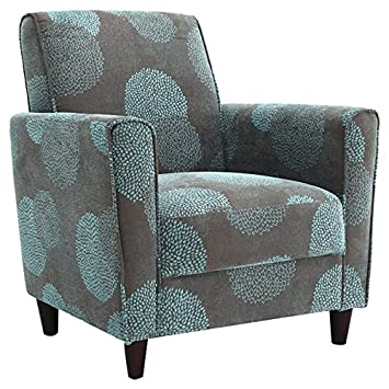 dhi enzo sunflower style accent arm chair blue