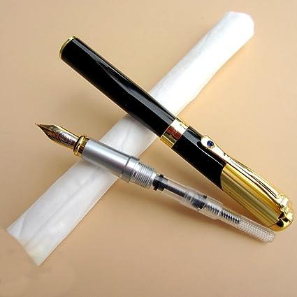 Pluma estilográfica, Hero 91 punta fina suave bolígrafo con tinta Refill Converter Ejecutivo firma de escritura Caligrafía bolígrafos Set para Universal láser: Amazon.es: Oficina y papelería