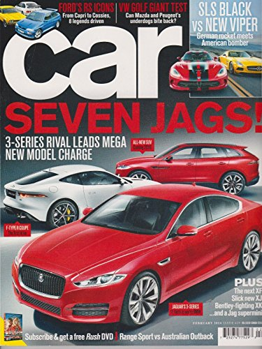 CAR MAGAZINE UK FEB 2014,SEVEN JAGS ! 3-SERIES RIVAL LEADS MEGA NEW MODEL - Usps Charges International