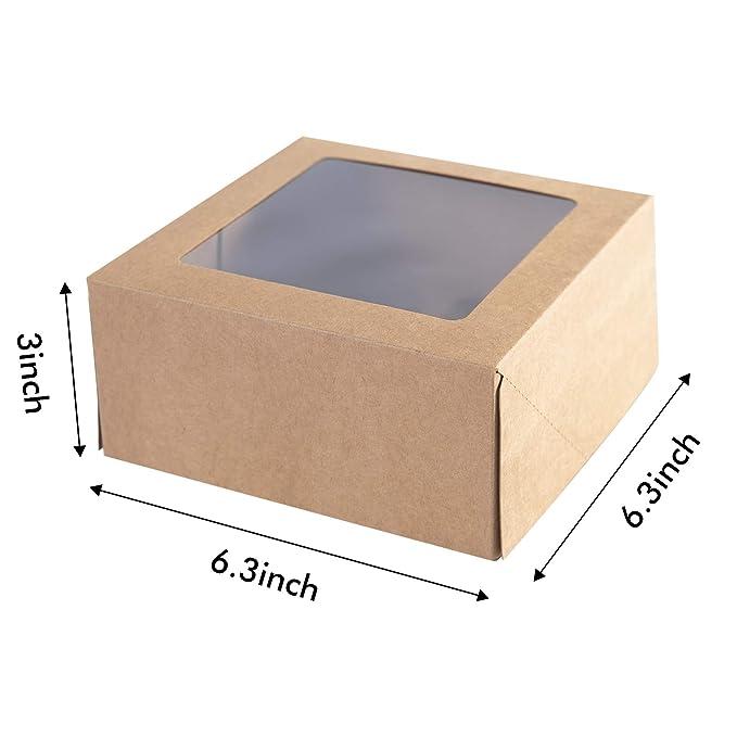 Amazon.com: [15 piezas] Cajas de papel kraft para cupcakes ...