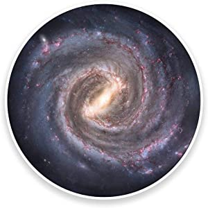 Milky Way Solar System Space Galaxy Vinyl Sticker Decal Laptop Car Bumper Sticker Travel Luggage Car iPad Sign Fun 5""