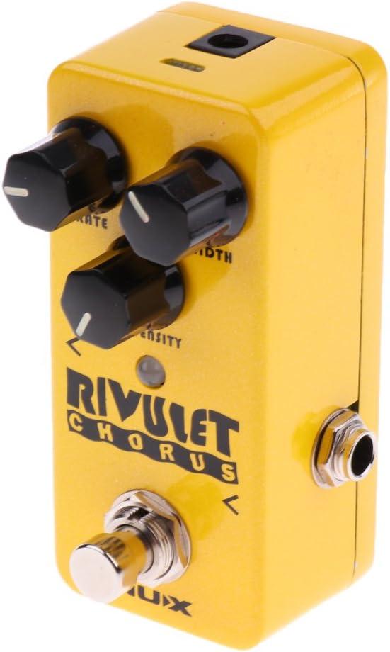 gazechimp Durabel Aluminum NCH-2 Guitar Rivulet Chorus Effect Pedal Yellow Instruments Acompañamiento