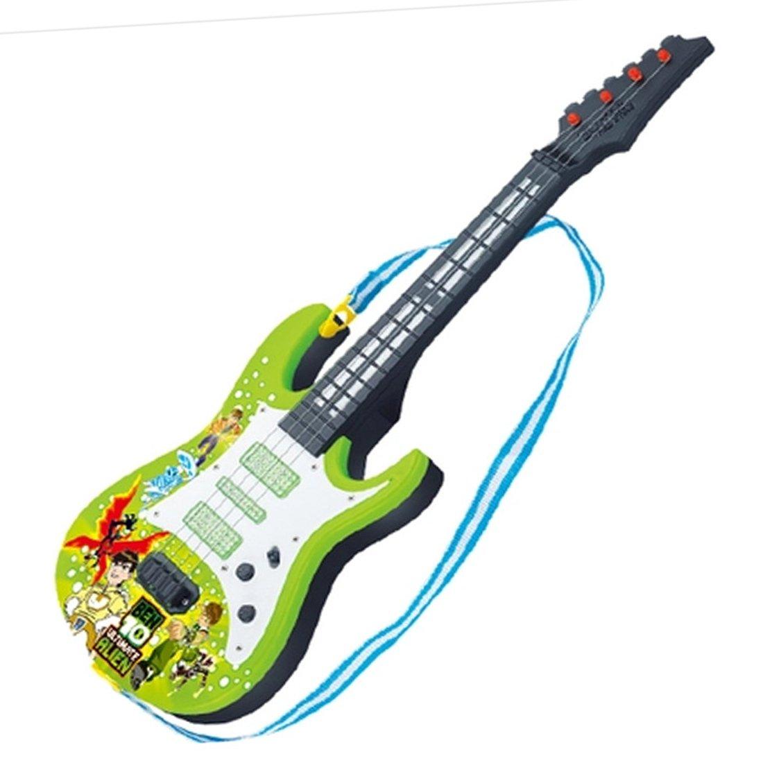 Rolanli 4 Cordes 53cm Guitare /Électrique Enfant Simulation Guitare Jouet Educatif Instrument de Musique Guitare D/ébutant