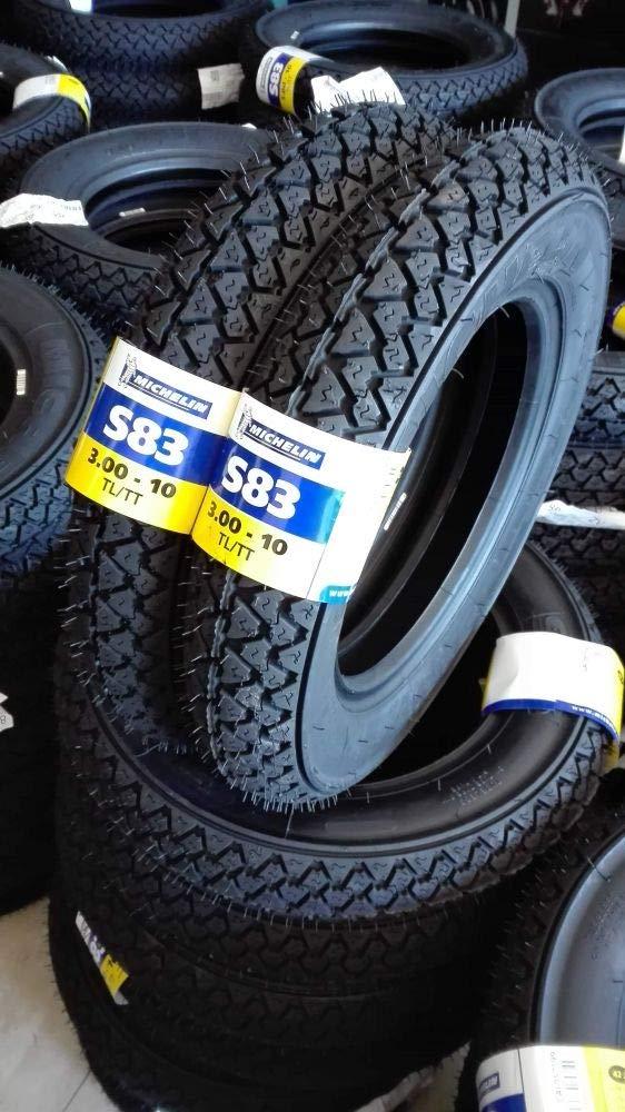 COPPIA GOMME COPERTONI MICHELIN S83 3.00-10 42J PER PIAGGIO VESPA SPECIAL 50 N R Michelin_Italia