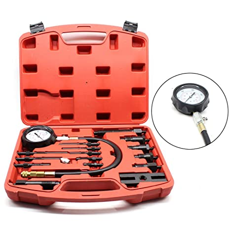 SHIOUCY - Kit de Prueba de compresión para Motor de Gasolina diésel y Cilindro de Gasolina