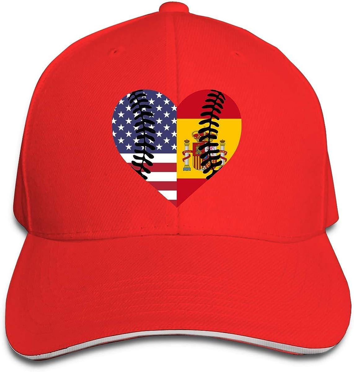 Bandera de España EE. UU. Béisbol Medio Unisex Gorra de béisbol ...