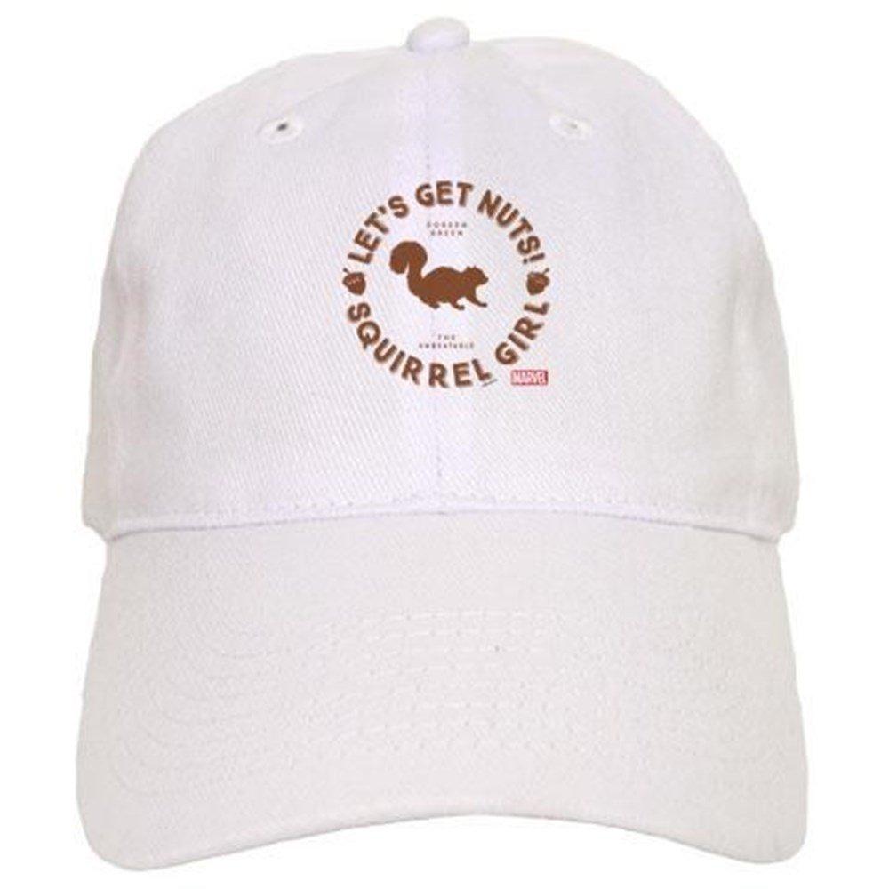9b6297f3777f2 Amazon.com  CafePress Squirrel Girl Let s Get Nuts Baseball Cap with  Adjustable Closure