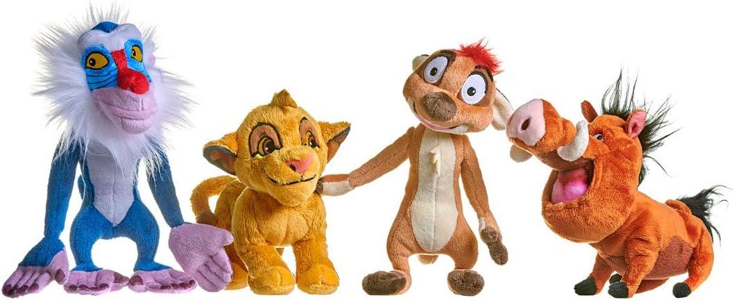Set de felpa suave de 18 cm de Disney Lion King, Simba Timon Pumba ...