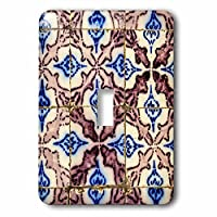3dRose lsp_208613_1 Ceramics, Sidi Bou Said, Tunisia. Old Nabeul Tiles in Local Home. Single Toggle Switch