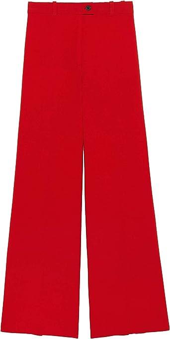 Zara 2387/703 - Pantalones Rectos para Mujer - Rojo - X-Large ...