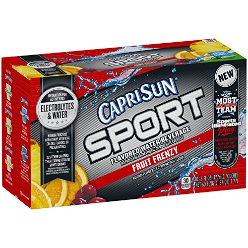 Capri Sun Sport Fruit Frenzy Juice Drink (6 oz Pouches, 10 Count)