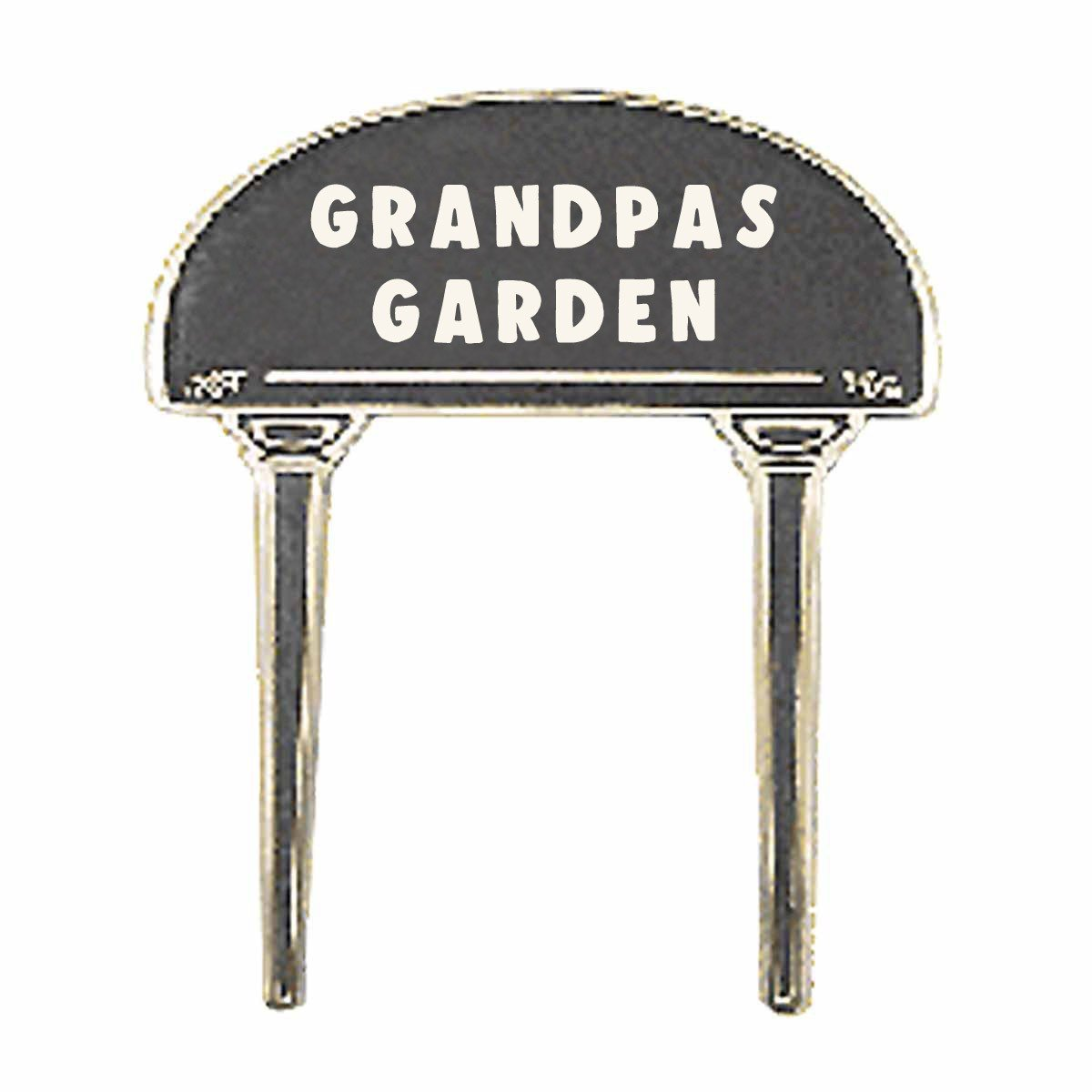 Renovator's Supply Solid Brass Plate Garden Sign GRANDPAS GARDEN Brass Plaques by Renovator's Supply
