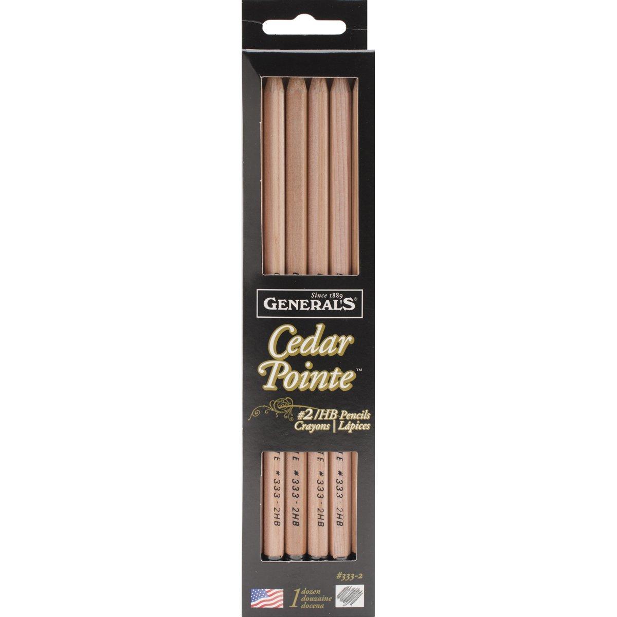 General Pencil Company Cedar Pointe No. 2 Pencil (ANG333-2)], 12-pack