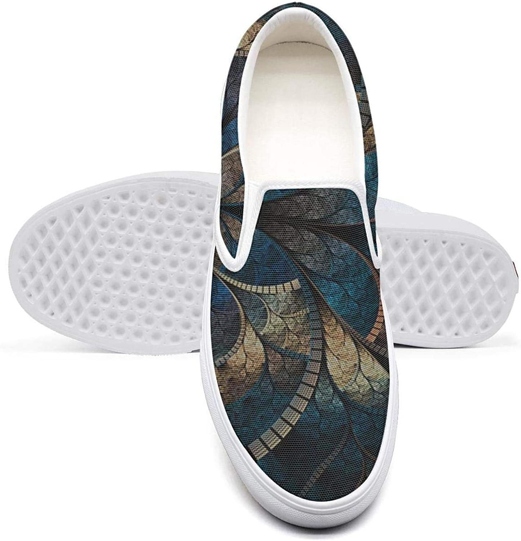 Mans Trippy Art Fractal Plimsolls for Mens Fashion Running Shoes