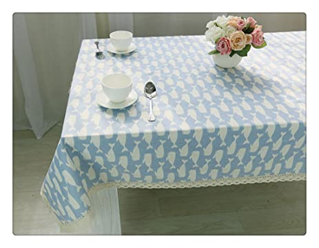 Blue Whale Flax Machine Washable Tablecloth Kitchen Tablecloth For  Dinner,Parties, Summer U0026 Outdoor