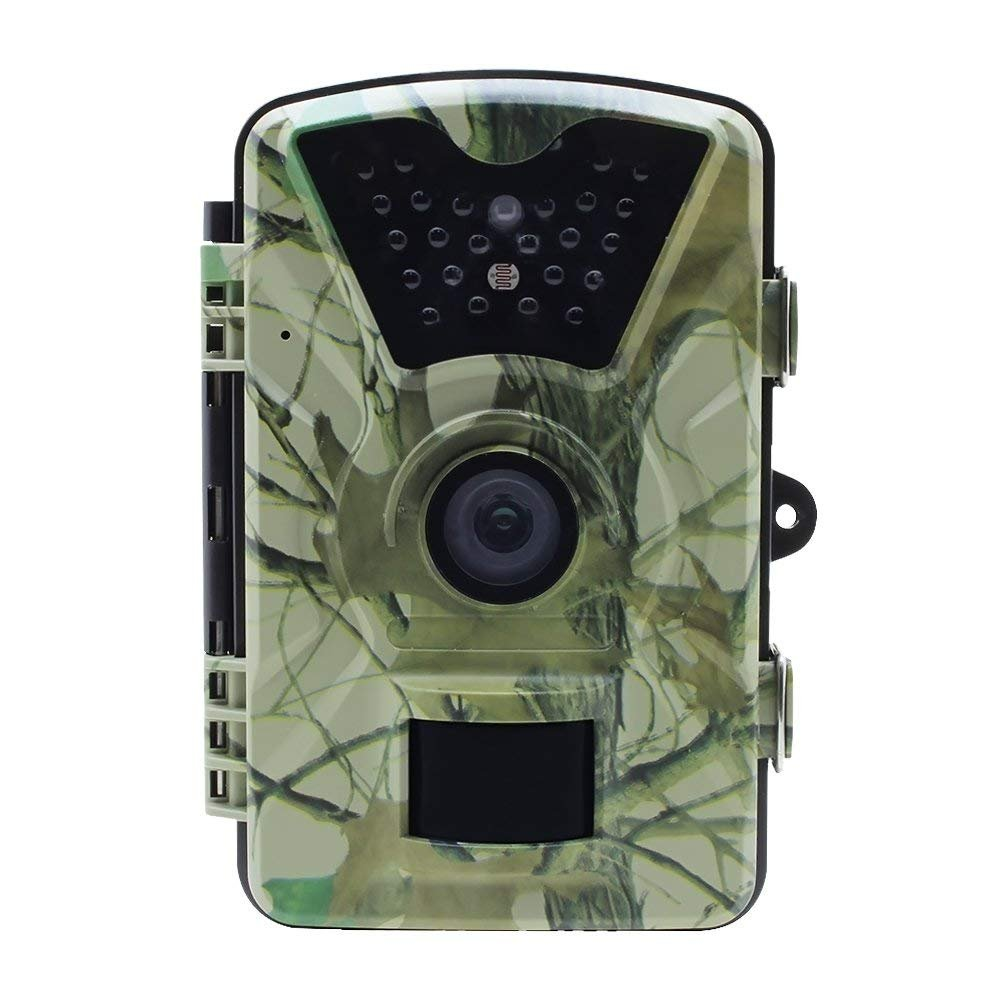 MDTEK 16GB SDHC card TC03, 12MP 1080P Trail Camera and Hunting Wildlife Camera with 24LEDs, Motion Sensor, Low Glow Infrared Night Vision 65ft, IP66, 2.36'' LCD for Wildlife Monitoring, Surveillance