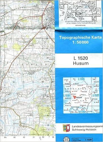 Husum Karte.Topographische Karte L 1520 Husum Schleswig Holstein 1