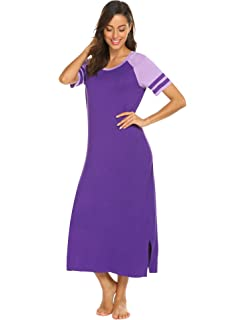 HOTOUCH Sleepwear Women s Nightshirt Short Sleeve Long Nightgown Scoopneck  Sleep Tee Dress S-XXL 4daaaa3b4