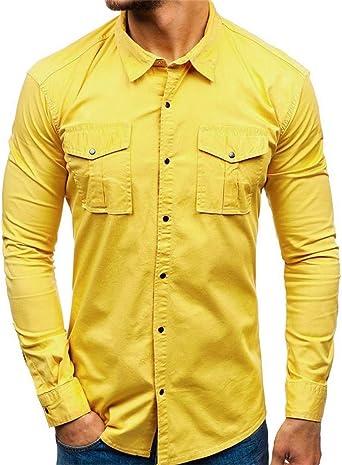 JJsmile - Camisas ligeras de estilo militar para hombre, de secado rápido, safari de manga larga, camisa de manga corta, casual para hombre, trabajo de hombre, doble bolsillo, manga larga, color arena,