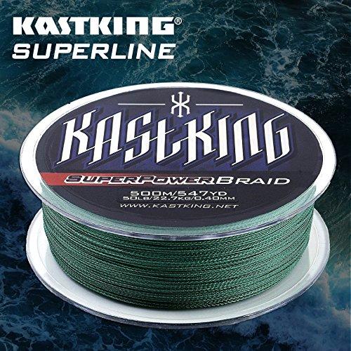 KastKing SuperPower Moss Green Braided Fishing Line 500M(547 Yard) / 1000M(1100 Yard) Advanced Superline