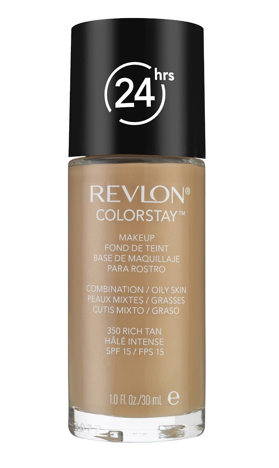 REVLON COLORSTAY 350 RICH TAN COMBINATION/OILY SKIN ALL DAY WEAR FOUNDATION WITH SOFTFLEX AND SPF 6 30ML by Revlon