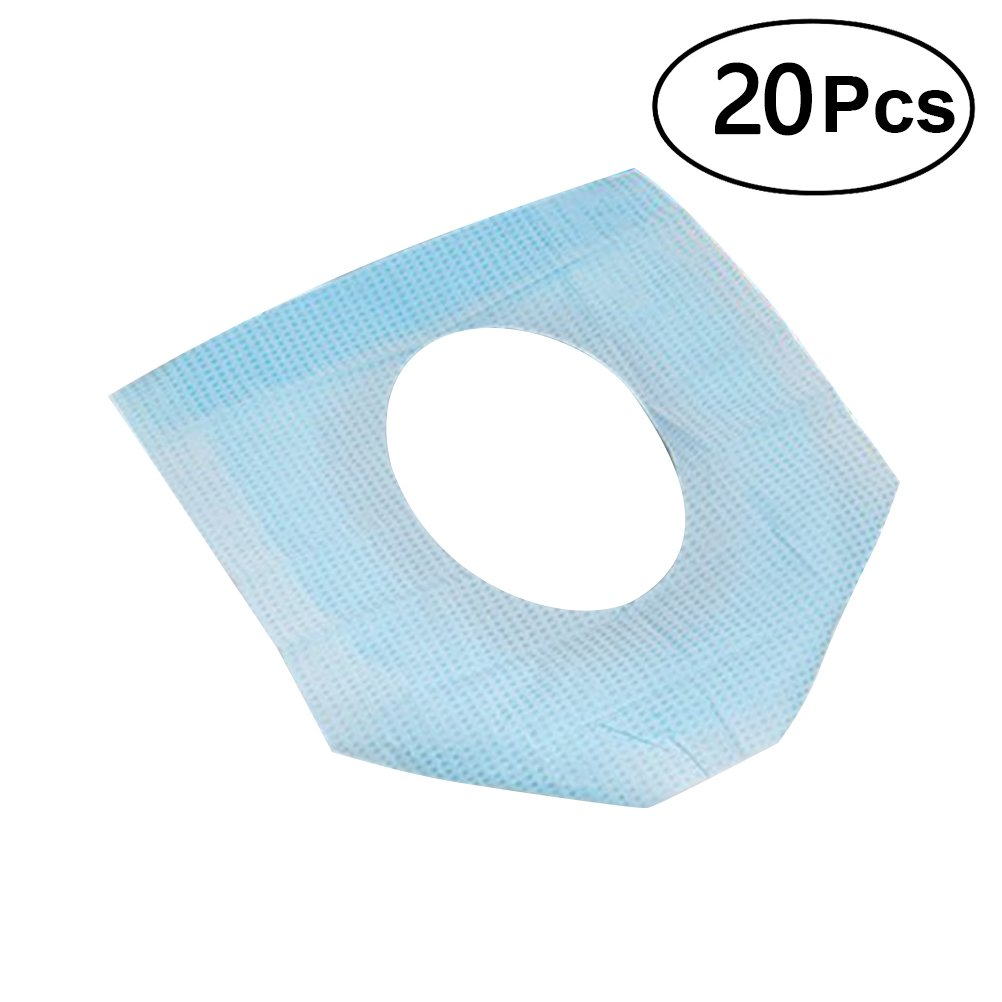 ROSENICE 20PCS Disposable Pocket Size Paper Toilet Seat Covers for Travel Hotel Use
