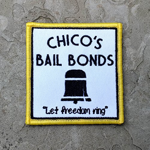 Bad News Bears and Chico's Bail Bonds 100% Embroidered Morale Patch, Hook Backed Morale Patch by NEO Tactical Gear (Chico's Bail Bonds Patch)