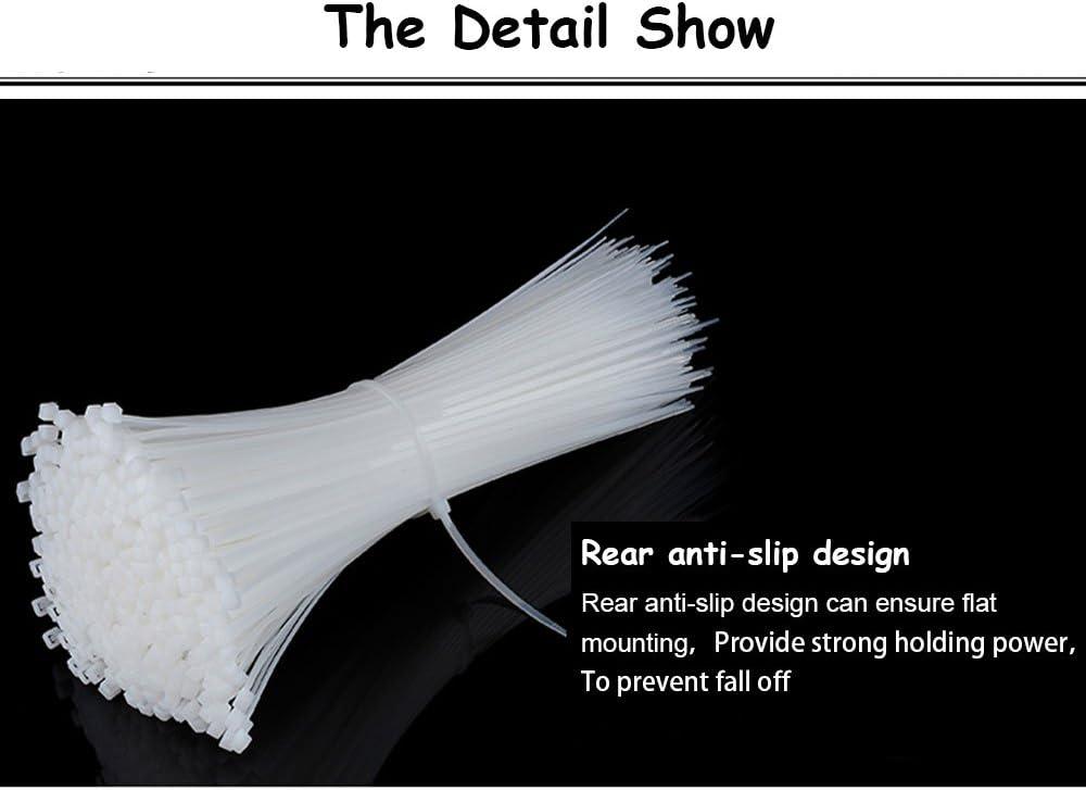 20 Lot de 500 attaches autobloquantes pour c/âbles en plastique de nylon robustes 15 25 et 30,5/cm en noir et blanc de 10