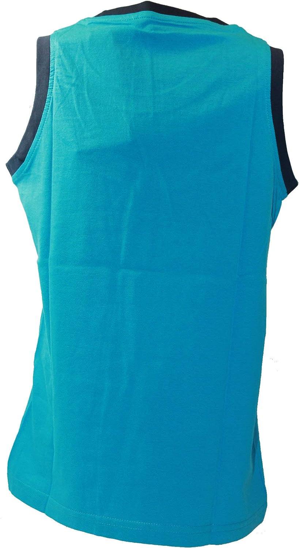 Blue Seven Jungen Top Tanktop Tr/ägershirt T-Shirt Schriftzug Cyan blau