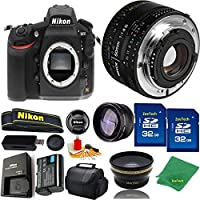 Great Value Bundle for D810 DSLR – 50MM 1.8D + 2PCS 32GB Memory + Wide Angle + Telephoto Lens + Case