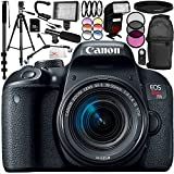 Canon EOS Rebel T7i DSLR Camera with 18-55mm Lens 17PC Accessory Bundle – Includes 32GB SD Memory Card + Universal Wireless Shutter Release Remote + MORE - International Version (No Warranty)