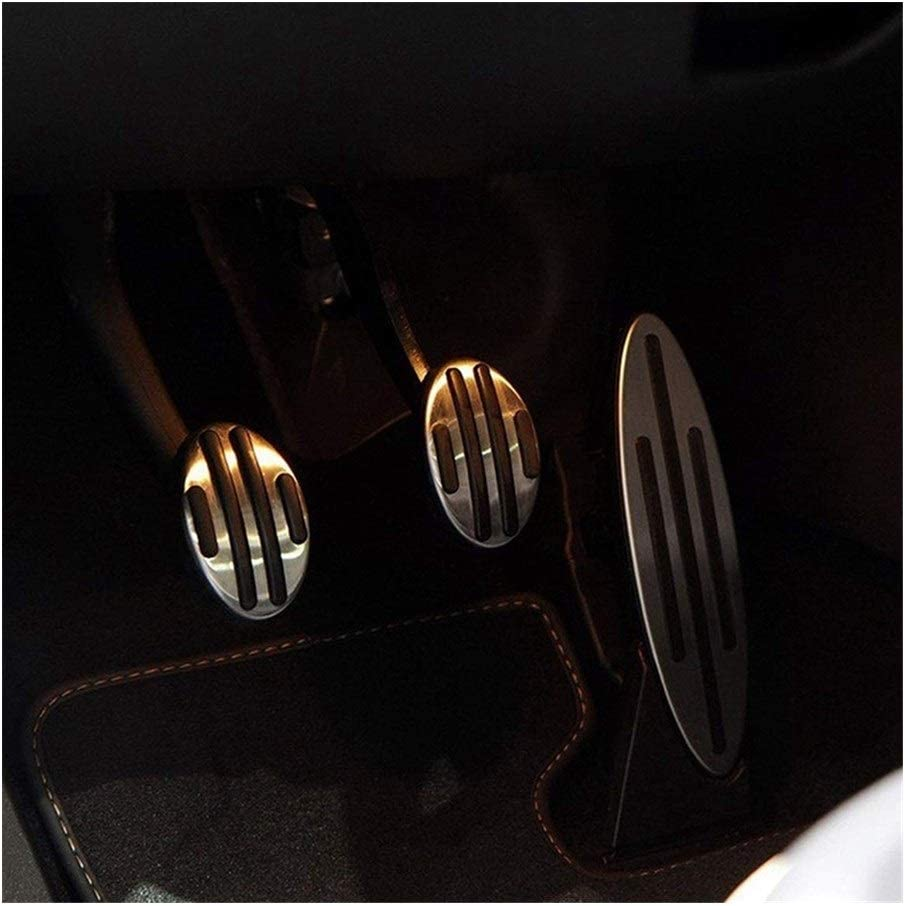 R58 R55 R53 R59 Color Name : Silver R56 R57 F55 Etc WENJING Brake Clutch Gas Throttle Pedal Cover Fit for Mini Cooper Accessories Fit R52