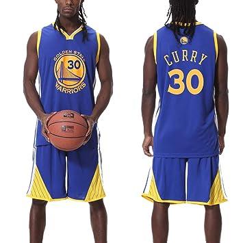 SKKQONG Traje de Ropa de Baloncesto Masculino NBA Warriors 30 ...