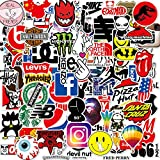 Brand Logo Stickers [100PCS] - Cool Random Vinyl Sticker for Laptop Water Bottle Motorcycle Bike Bumper Skateboard Luggage Travel Case - Waterproof Graffiti Patches Sticker Decal for Adult Teen Hippie