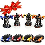 XHAIZ Toy Cars, Transformers Rescue Bots Toy for Boys One Step, Boys Gifts 4-pack