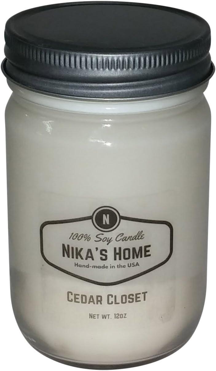 Nika's Home Cedar Closet Soy Candle - 12oz Mason Jar