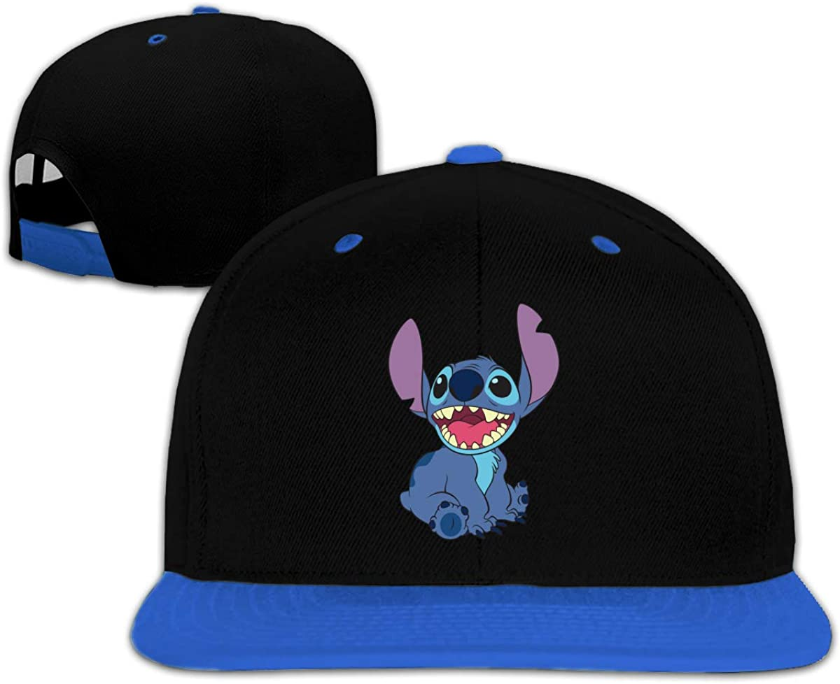 Lilo and Stitch Logo Unisex Kids Flat Baseball Caps Adjustable Hat Flat Bill Baseball Cap Red