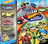 Team Hot Wheels DVD City Pack Awesome Rev Rod Animated Movie + Car set Twin Mill Car Red Blue Green & Yellow Racers
