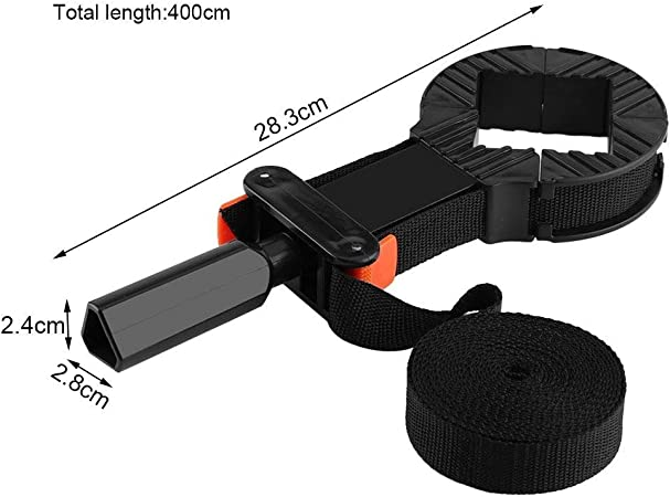 Heitune Multi-function Adjustable Corner Clamp Band Strap 4 Jaws Picture Frame Holder Woodworking Tool