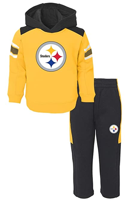 Image Unavailable. Image not available for. Color  Outerstuff Pittsburgh  Steelers NFL Touchdown Toddler Fleece Hoodie ... 51d35d1ae