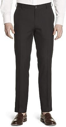 Geoffrey Beene Slim Fit Flat Front Non Iron Dress Pant Pantalones De Vestir Negro 30w 30l Para Hombre Amazon Es Ropa Y Accesorios