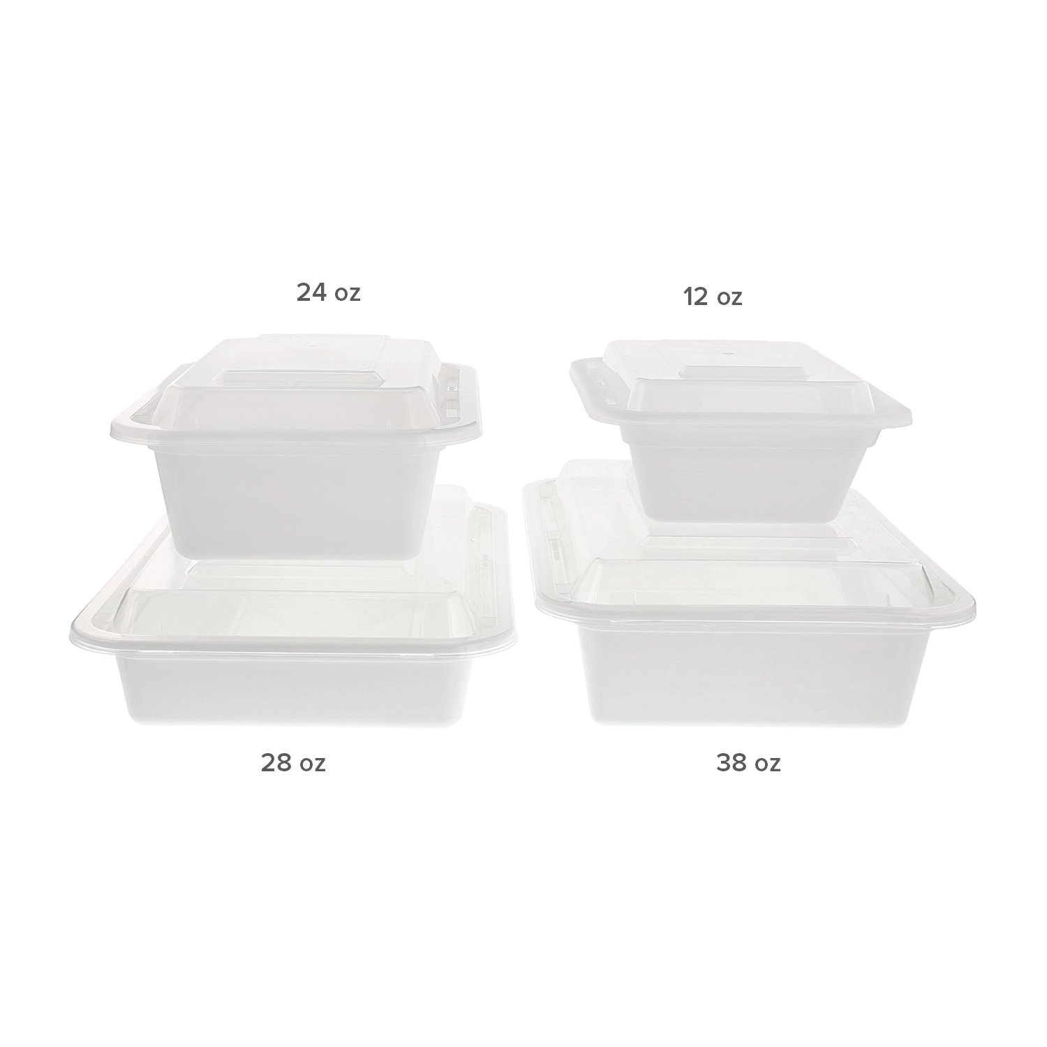 20 cm x 15 cm White Container, 5 cm Deep, 1.12 litres, Case of 150 ...