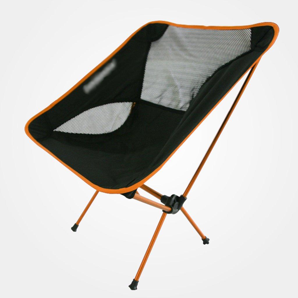 ZGL 旅行椅子 屋外超軽量ポータブルアルミ合金折り畳み式ムーンチェア多目的釣り車(レイジーチェアカラー付) ( 色 : オレンジ ) B07CG7ZR8Z  オレンジ