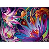Sanwooden 5D Full Diamond Colorful Abstract Lotus Painting Crystals Embroidery DIY Handmade Decor