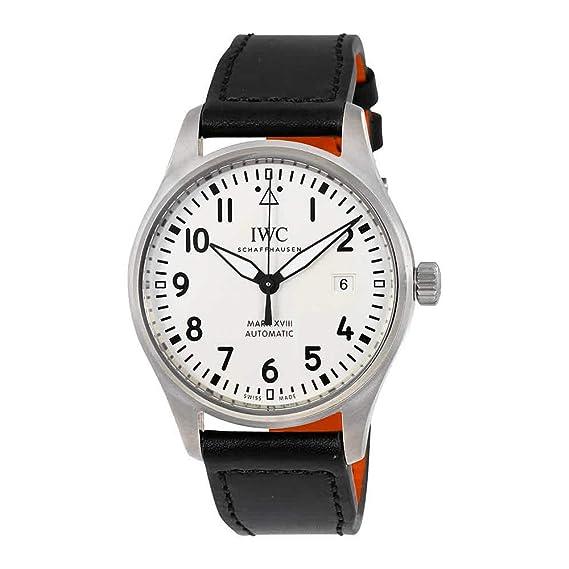 IWC PILOTS RELOJ DE HOMBRE AUTOMÁTICO 40MM CORREA DE CUERO DIAL PLATA IW327002: Amazon.es: Relojes