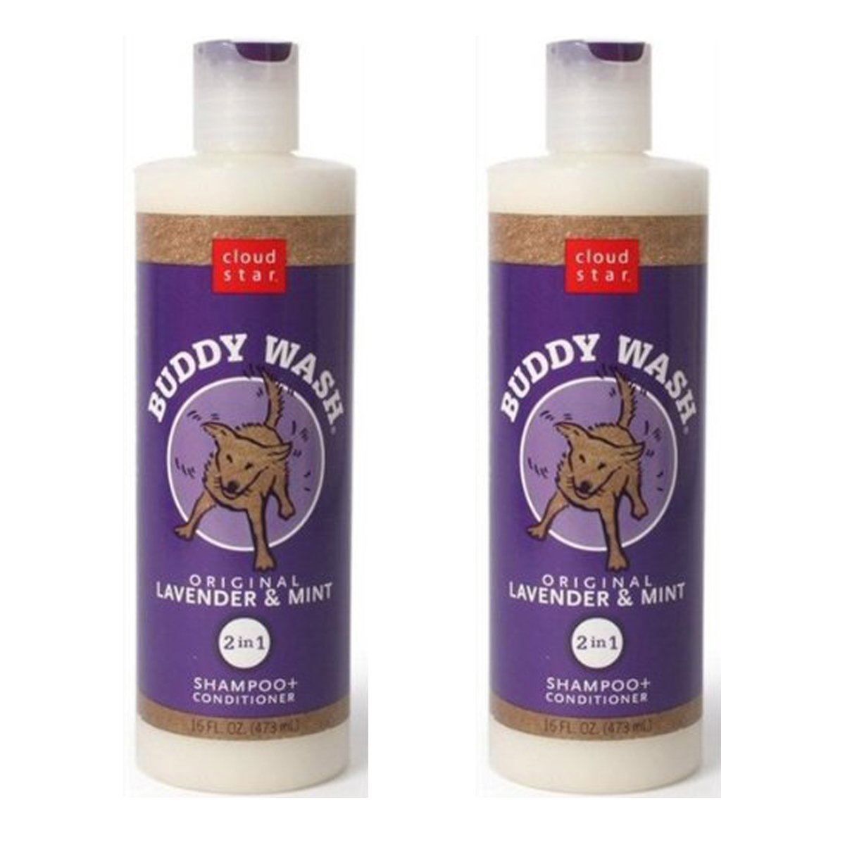 Cloud Star Buddy Wash Lavender & Mint 2-in-1 Dog Shampoo + Conditioner 32 Oz by Buddy Biscuits (Image #1)