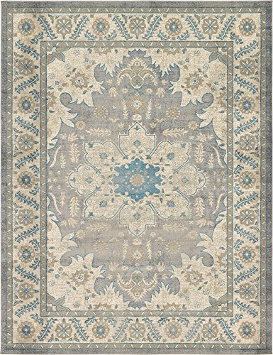 - Unique Loom Salzburg Collection Traditional Oriental Gray Area Rug (9' 0 x 12' 0)