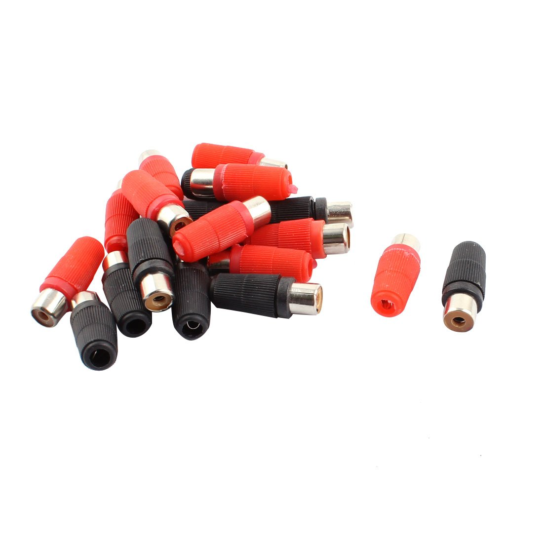 Black 8 Pack Solder Type RCA Plug Male Audio Video Adapter Connector Red