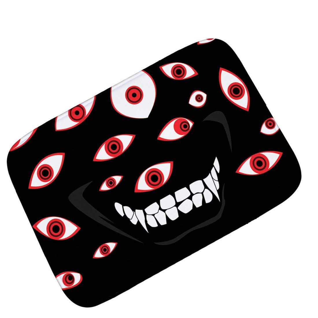 OHYESS Halloween Ghost Eyes Spirit Front Door Floor Carpet Party Decorative Bedroom Shoes Scraper Gate Inside Non-Slip Mat Doormat (16*24)